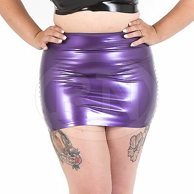 WFR036 Rubber Latex Mini Skirt with Zip