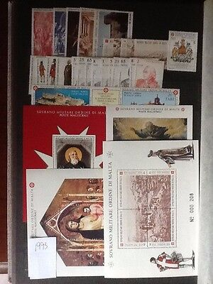 1993 Sovereign Military Order of Malta complete year sets + M/S M NH VF L5609