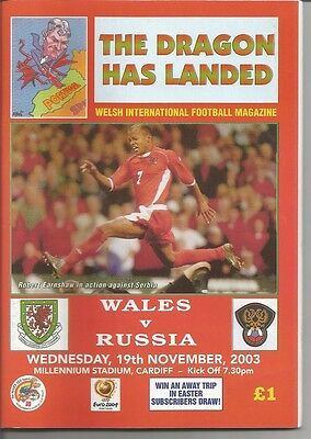 WALES v RUSSIA  2003  Dragon Has Landed issue