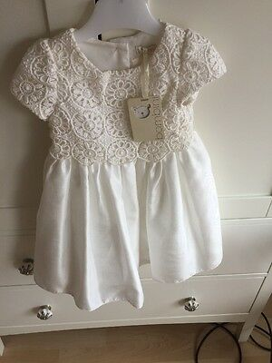 Girls Christening Flower Girl Dress 12-18 Months BNWT Like Mamas And Papas