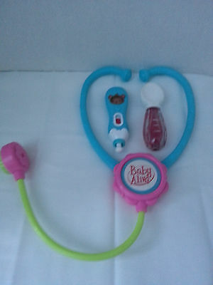 baby alive replacement doc lot -stethoscope , spoon ect