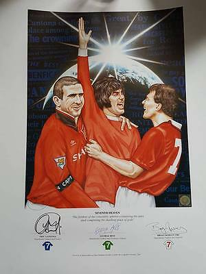 Manchester United 'Seventh Heaven' Signed by, Best, Cantona and Robson