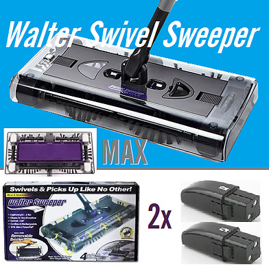 New Walter Swivel Sweeper Latest Cordless Max Quad Brush with 2 strong batteries