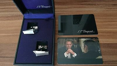 ST Dupont 5244 Casino Royale James Bond 007 Limited Ed CuffLinks LAST PRICE DROP