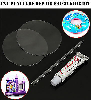 PVC Puncture Repair Patch Glue Kit For Inflatable Toy Pool Air Bed   LiFaFa