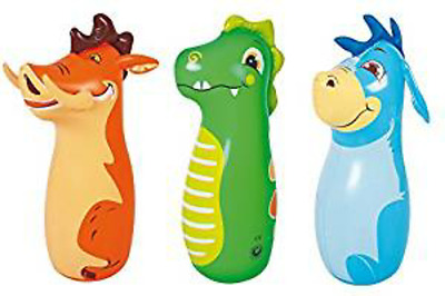 Kids 3D Blow Up Inflatable Animal Bop Bag Punch Boxing Kids Toy Game Indoor
