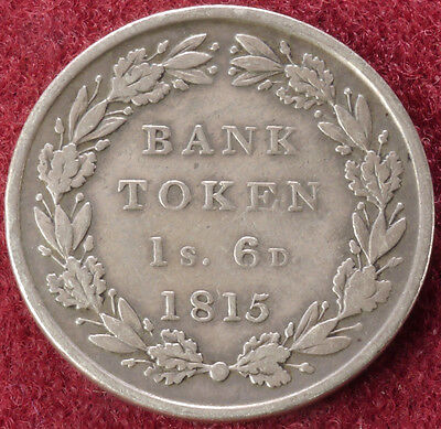 GB Eighteen Pence Bank Token 1815 (C2210)