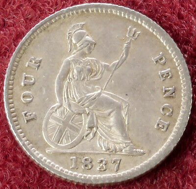 GB Fourpence Groat 1837 (C2210)