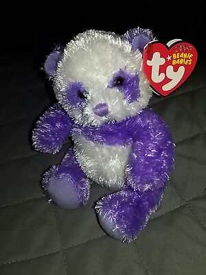 TY beanie baby Dancy Purple Panda - Mint with tags - Rare!