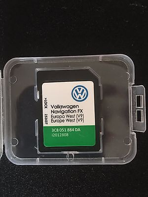 Latest Original Vw Volkswagen Rns 310 V9 Sd Card 2017-2018 Navigation Map Update