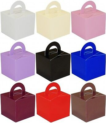 10 Favor/Cake/Helium Balloon Weight Boxes Ass Colour Wedding/Christening/Party