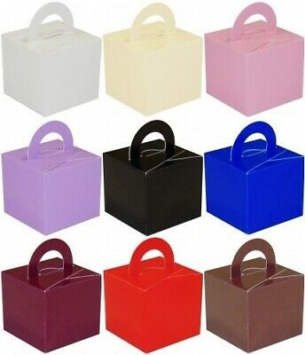 20  Favor/Cake/Helium Balloon Weight Boxes Ass Colour Wedding/Christening/Party