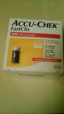 Accu chek fast clix 204 lancets, Brand new unopened uk stock