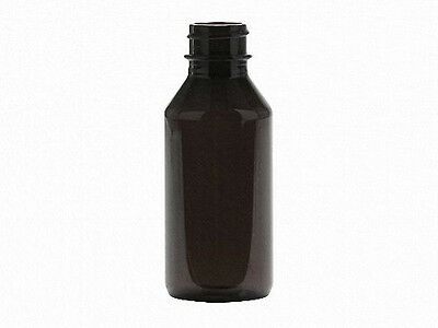 1 oz (30 ml) Dark Amber PET Plastic Bottles w/Dropper Assemblies (Lot of 100)