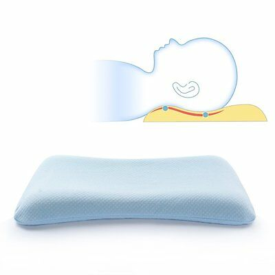 Mkicesky Soft Memory Foam Baby Pillow for Newborn Sleeping Prevent Flat Head and