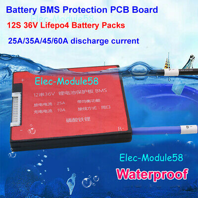 Lifepo4 PCB 12S 36V 25A 35A 45A 60A Battery BMS Protection Balance PCB Module