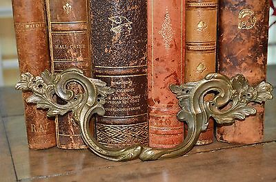 Antique French Bronze Ornate French Drawer Handle Pull