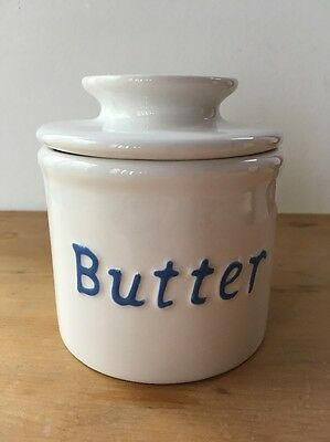 2006 Used Original Butter Bell Crock by L. Tremain Blue & White - Chipped