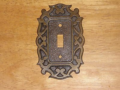 Vintage National Lock Brass Single Light Switch Cover