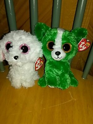 TY Beanie Boo lot - Dill & Pippie dogs - New with tags!