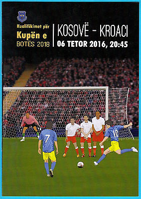 KOSOVO : CROATIA - 2016. FIFA FOOTBALL WORLD CUP quali. official match programme