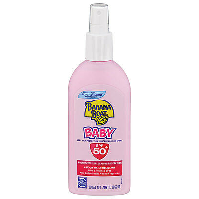 Banana Boat Sunscreen Lotion Spray Baby Spf 50+ 200Ml