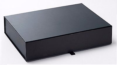 Luxury Gift Box / Keepsake Box, A4 Shallow In Black With No Ribbon