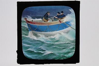Glass Lantern Slide - Women Lifeboat Crew Mumbles Head - Hand Tinted From Life