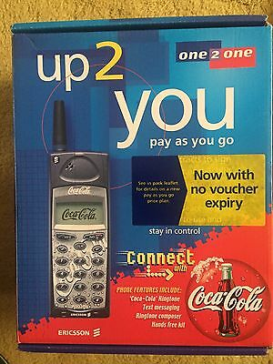Coca Cola Sony Ericsson A1018s Mobile Phone In Original Box Never Used