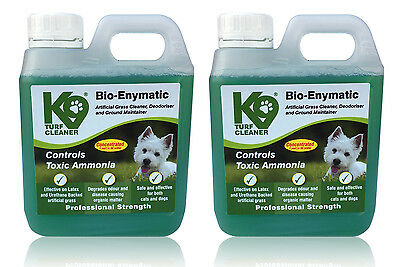 Twin Pack - K9 Turf High Enzyme Artificial Grass Cleaner Controls Toxic Ammonia