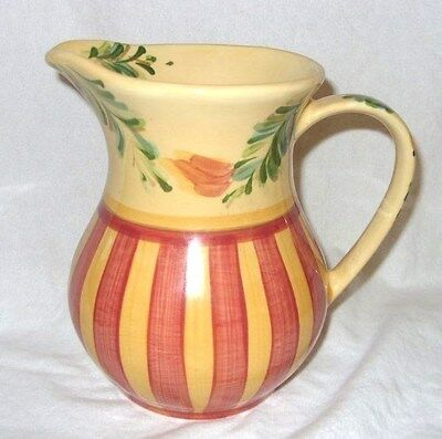 RETIRED Gail Pittman Pottery SIENNA Pitcher Southern Living At Home 48 Oz