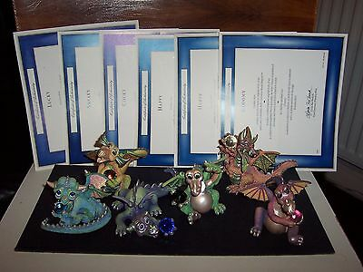 Mood Dragons_Set of all 6 Complete_Discontinued 1st Series_ Franklin Mint