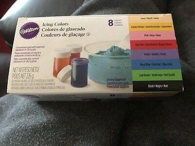 Wilton Icing Colour Gel Paste for Cake & Cupcake Decorating Set/Kit of 8 Colours