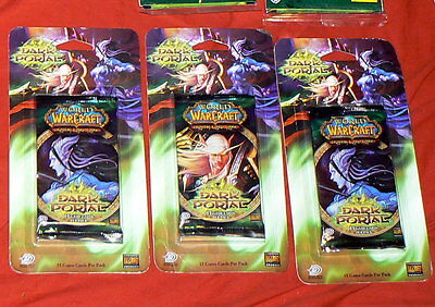2007 Lot of 3 World of Warcraft Through The Dark Portal Packs Trading Card Game