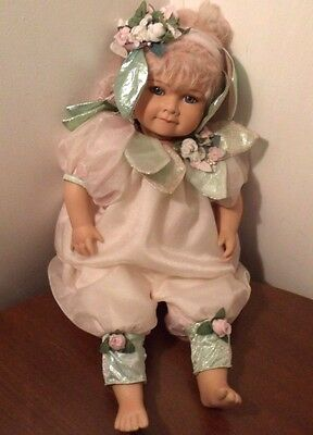 """EFFANBEE PORCELAIN 18"""" DOLL, LIMITED EDITION 231/1200 - june"""