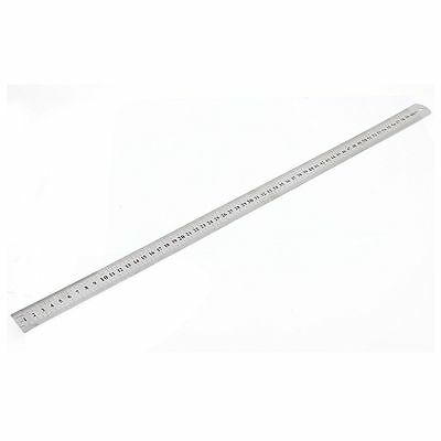 "Stainless Steel Double Side Measuring Straight Edge Ruler 60cm/24"", Silver S2J3"