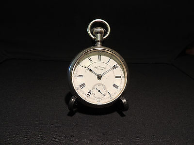 Waltham frosted model 1883 size 18 silver pocket watch