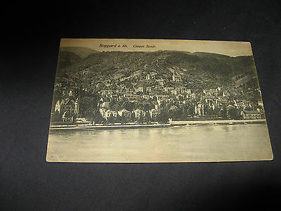 1900's  photograph postcard of Boppard a Rh Germany UNTERE STADT Willi Schippers