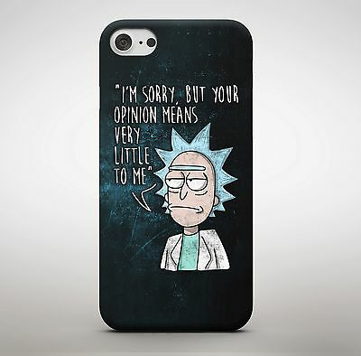 Rick and Morty Opinion Means Nothing American Cartoon Quote Phone Case Cover