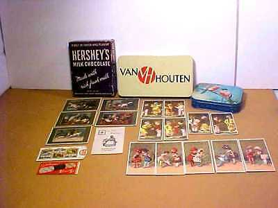 Collectible Candy Boxes,tins,tootsie Roll Matchbook, Bookmark,16 Trade Cards Lot