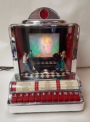 Mr. Christmas Diner JukeBox with Moving Dancers & Slide Show Music Box