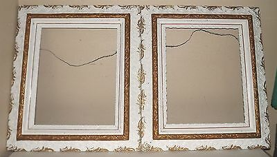 Pair Antique Gesso Picture Frames Victorian Ornate Fits 16x20  16 by 20 inch