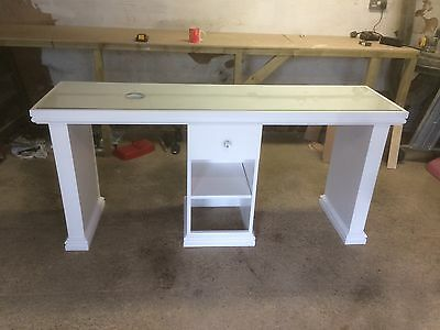 Nail Station/table With Nail Dust Extractor Fan, Glass Top, Free Delivery