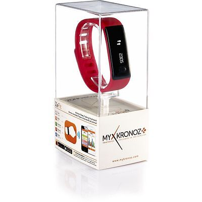MY KRONOZ More than time ZeFit Sleek Fitness Smartwatch Red RRP £46.99 50%OFF