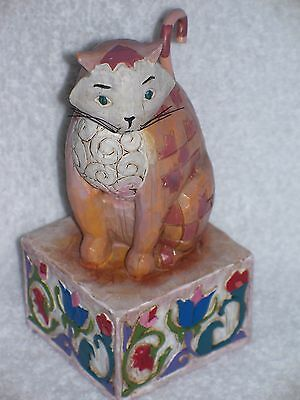 "Jim Shore ""JASPER"" CAT Figurine Heartwood Creek 2003 Enesco RETIRED 114424"
