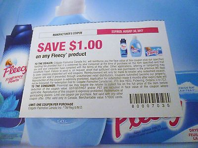 Lot Of Fleecy Product Coupons