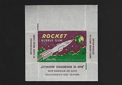 Advertising 1950s NON - SPORT card wax bubble gum wrapper SPACE SHIP ROCKET