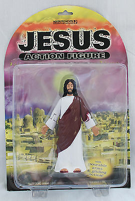 """Accoutrements Biblical Jesus Poseable & Glides 5"""" Action Figure 2001 RARE"""