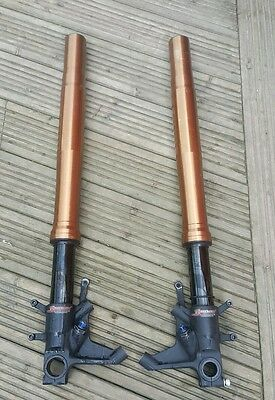 gsxr 1000 k8 forks with 20mm piston kit and ohlins spring 10w breaking bike