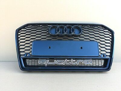 Audi A6 Rs6 4G 2016-2018 Front Bumper Grill Front Grill Black Quattro [16Rs6-4]